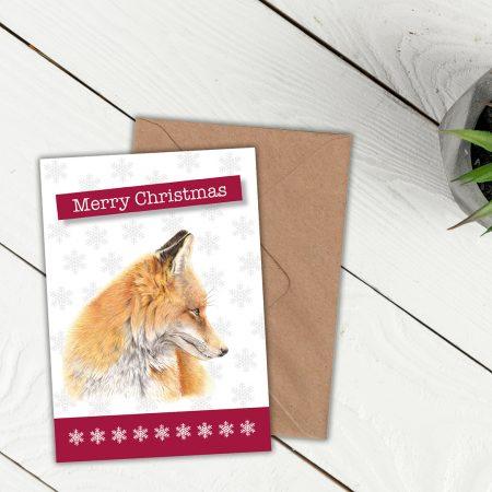 Fox Christmas Card