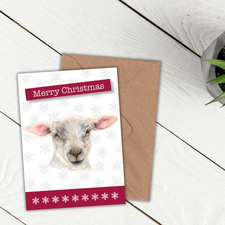 Lamb Christmas Card