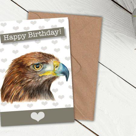 Golden Eagle Birthday Card