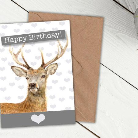 Animal birthday card archives jvh creative fine art deer birthday card bookmarktalkfo Image collections