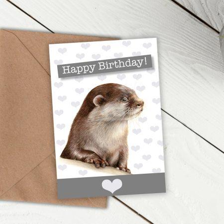 Sea Otter Birthday Card