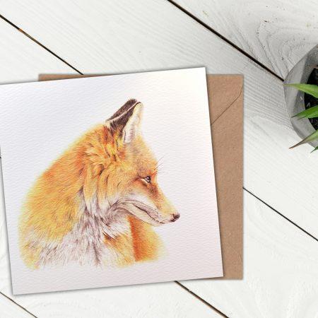 Fox Blank Greeting Card