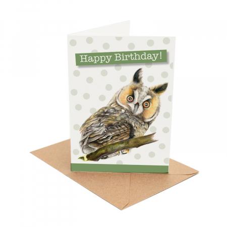 owl birhtday card