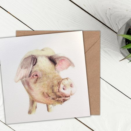 Pig Blank Greeting Card
