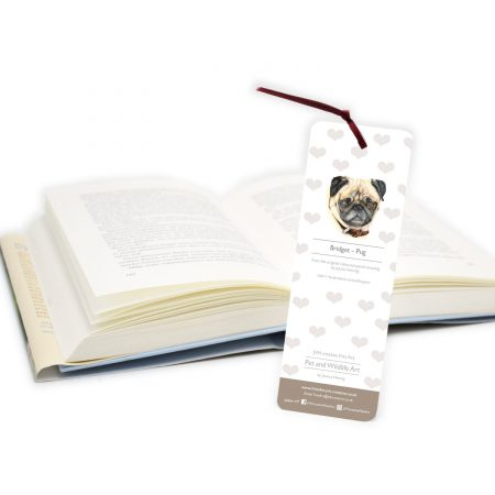 Pug Bookmark back