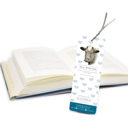 Cow Bookmark back