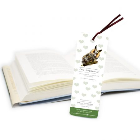 Owl Bookmark back
