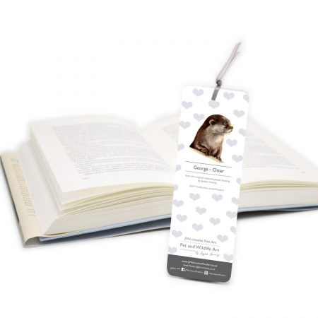 Otter Bookmark back