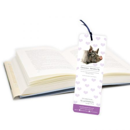 Berkshire Pig Bookmark back