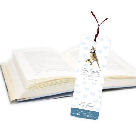 Crested Tit Bookmark back