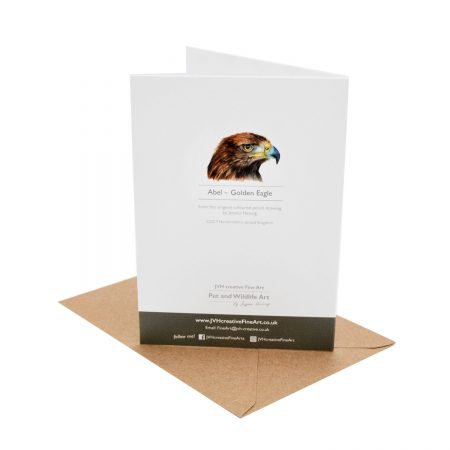 Golden Eagle Birthday Card back
