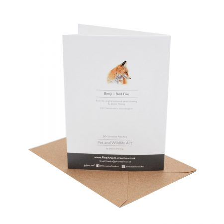 Fox Birthday Card back