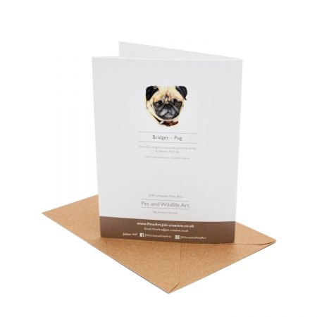 Pug Birthday Card back