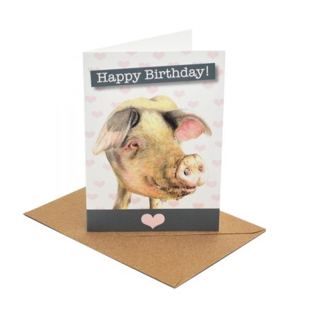 Gloucester Old Spot Birthday Card