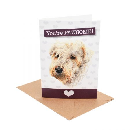 Wheaten Terrier Pawsome Card
