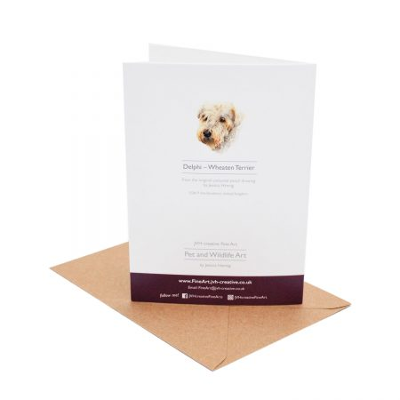 Wheaten Terrier Pawsome Card back