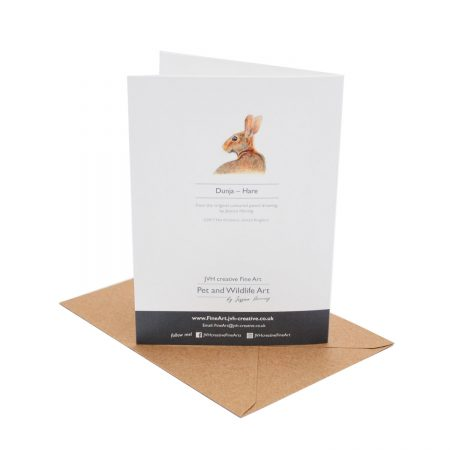 Hare Birthday Card back