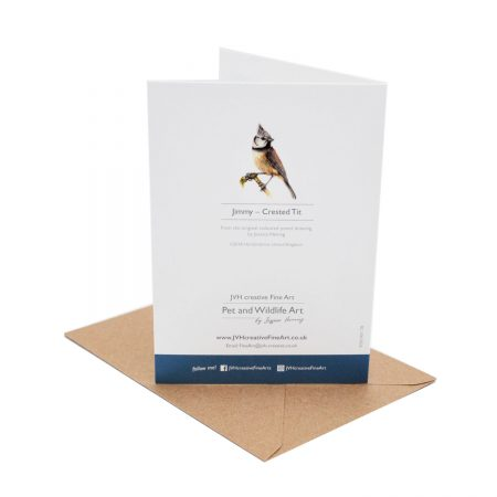 Crested Tit Birthday Card back