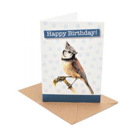 Crested Tit Birthday Bard