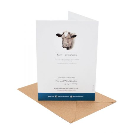 Cow Birthday Card back