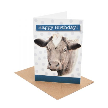 Cow Birthday card circles
