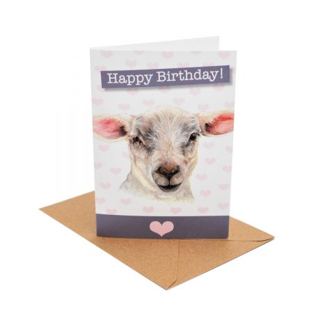 Lamb Birthday Card