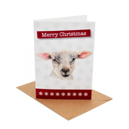 Lamb Christmas Card