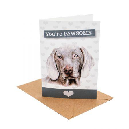 Weimaraner Pawsome Card