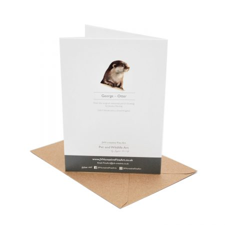 Otter Birthday Card back