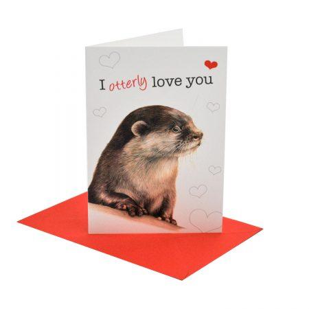 Otter Valentine's Card