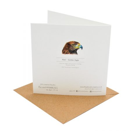 Golden Eagle Greeting Cards Back