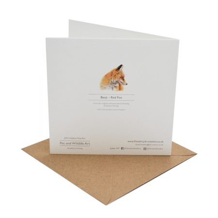 Red Fox Greeting Card Back