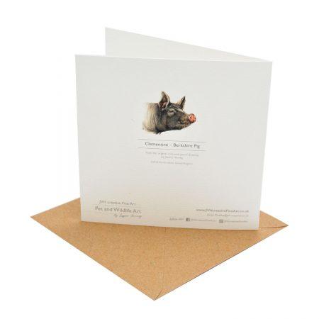 Berkshire Pig Greeting Card