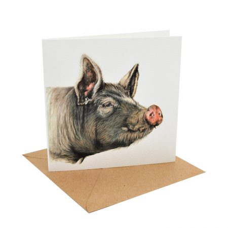 Berkshire Pig Greeting Card