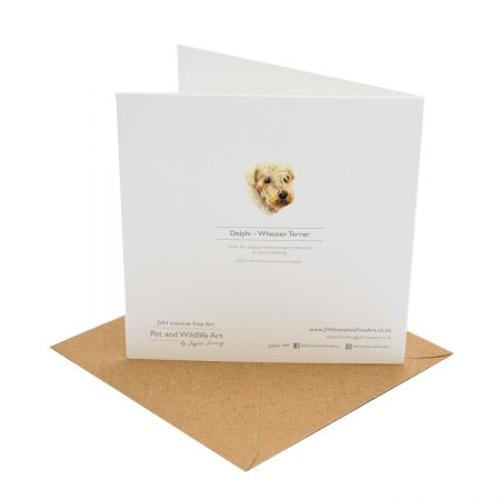 Wheten Terrier Greeting Card Back