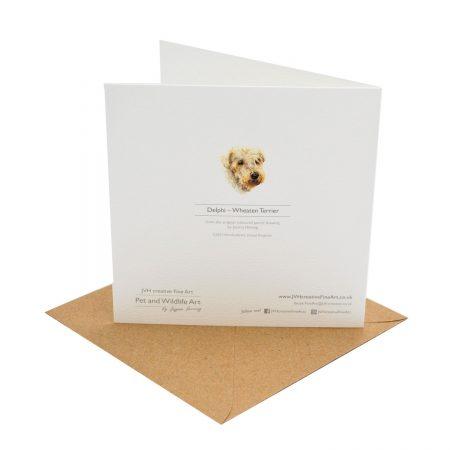 Wheten Terrier Greeting Card Back
