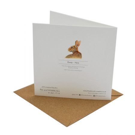 Hare Greeting Card Back