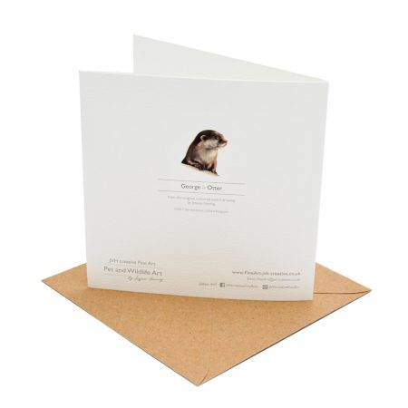 Otter Greeting Card Back