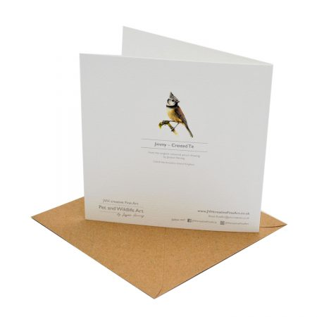 Crested Tit Greeting Card Back