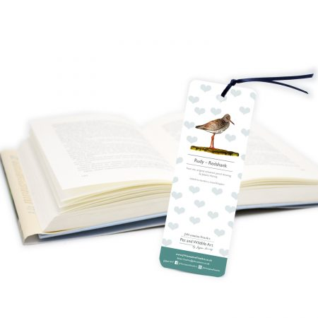 Redshank Bookmark Back