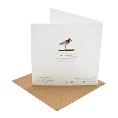 Redshank Greeting Card back