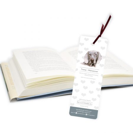 Weimaraner Bookmark Back