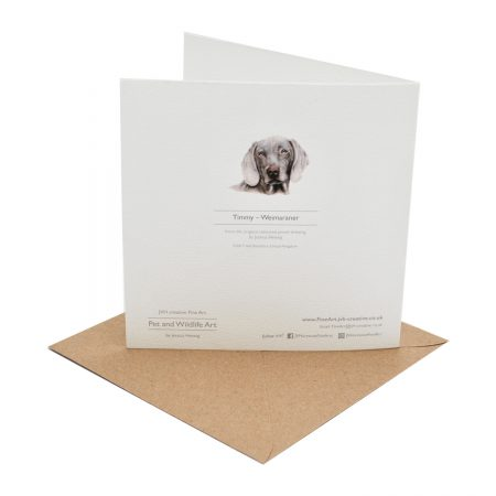 Weimaraner Greeting Card back