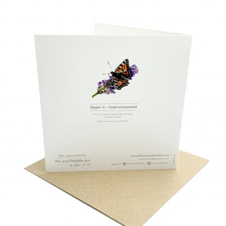 Buuterfly Card, back