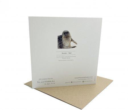 Norfolk Seal greeting card back