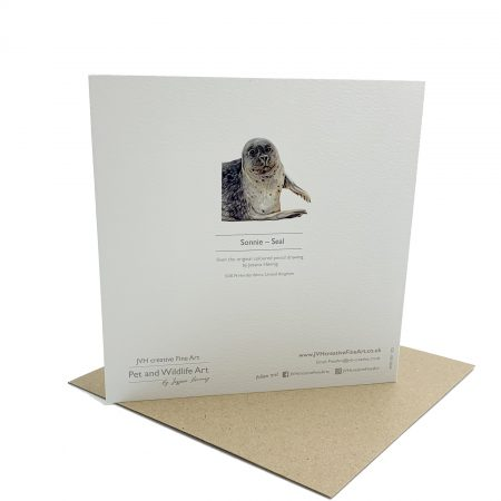 Norfolk Seal greeting card back