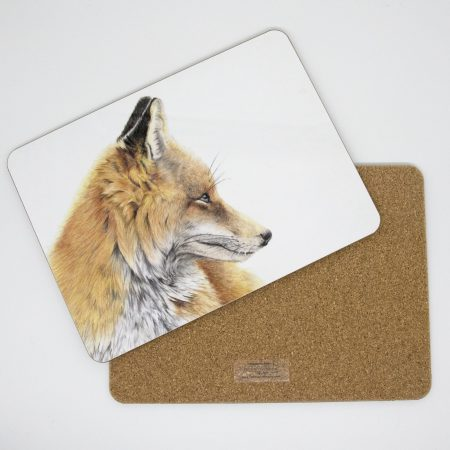Fox tablemat front back