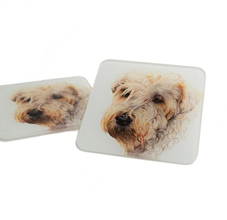 Wheaten Terrier Glass Coaster