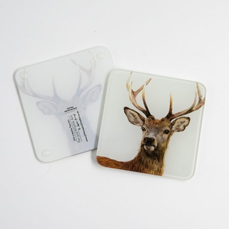 Deer Glass coaster, reverse