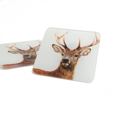 Stag Glass Coaster